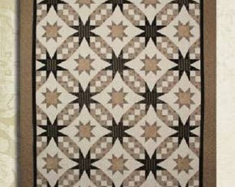 "Starlight Waltz Quilt Pattern 57"" x 75"" or 86"" x 104""  #CT514"