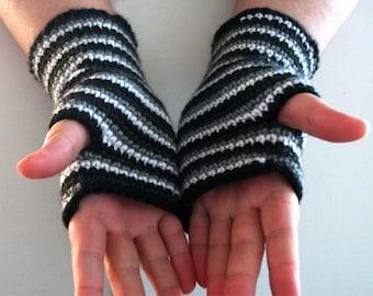 Crochet Pattern PDF Ombre Spiral Fingerless Gloves Long Fingerless Arm Warmers