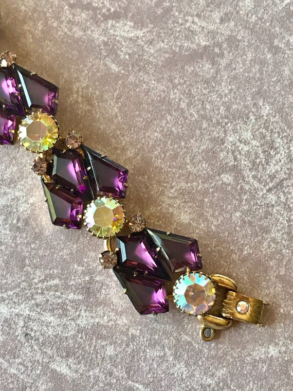 Juliana Gorgeous Amethyst Kite Stone Bracelet
