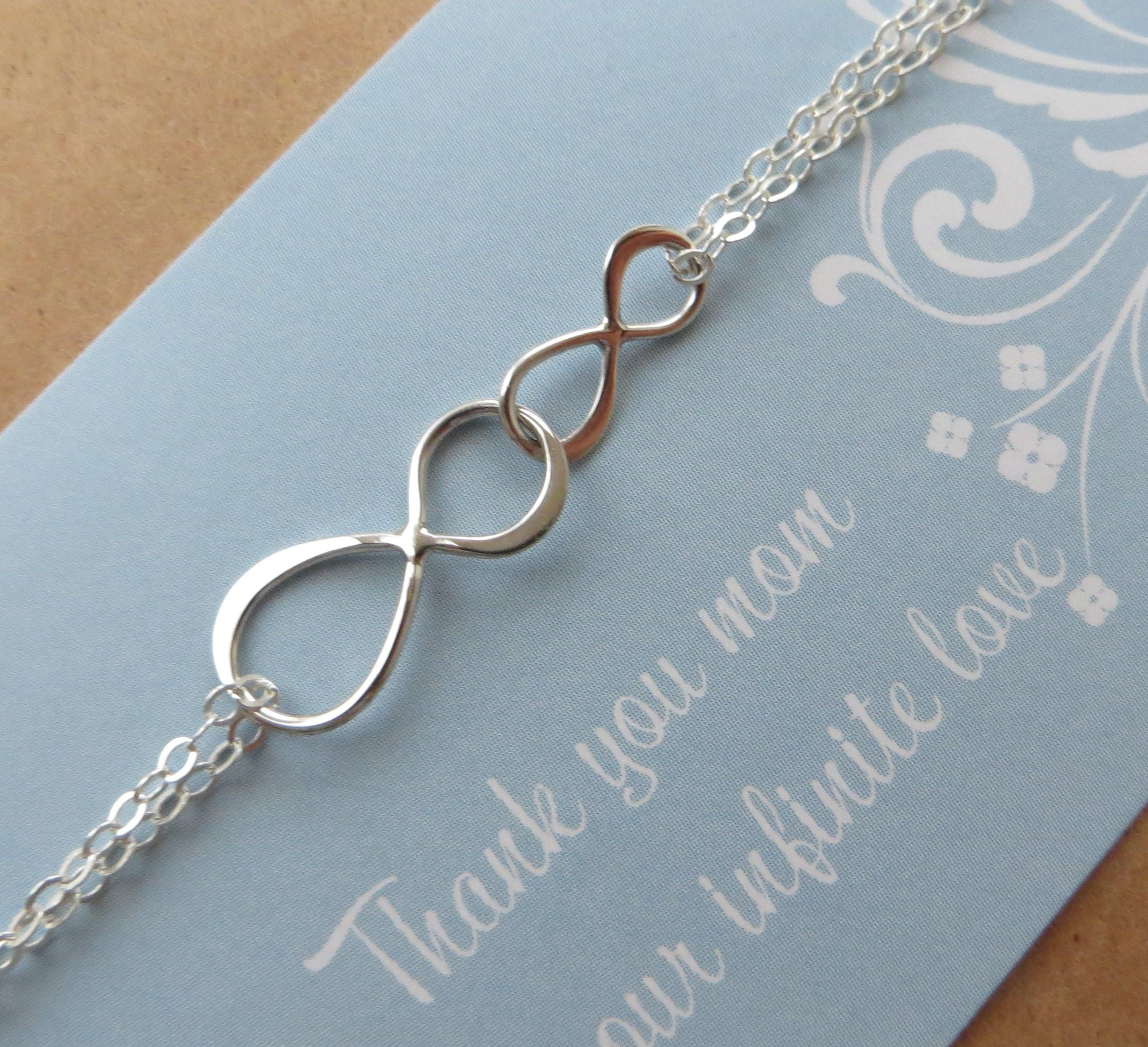 bracelet personalized silver and sister infinity pin daughter jewelry sterling mother