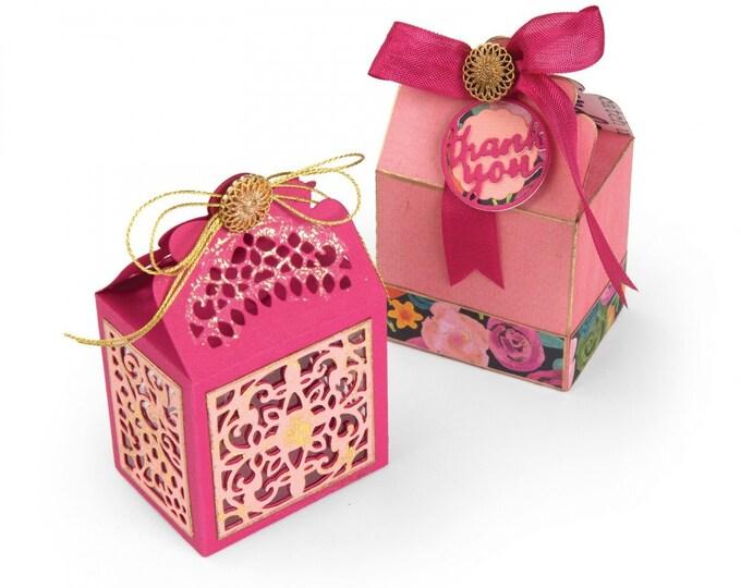 New! Sizzix Thinlits Die Set 9PK - Box, Moroccan Lace by Katelyn Lizardi 662771
