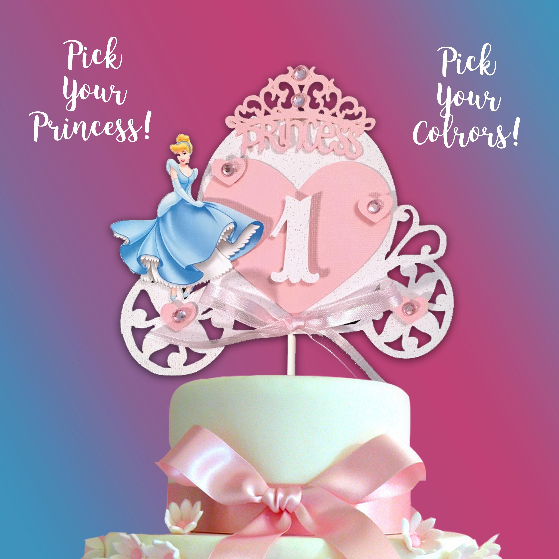 Cinderella Cake Topper Princess Cake Topper Cinderella
