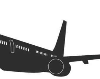 big airplane vinyl decal/sticker
