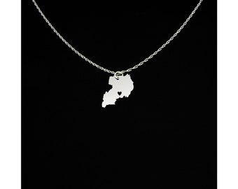 Uganda Necklace - Uganda Jewelry - Uganda Gift