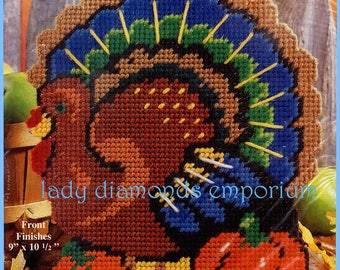 Turkey Doorstop Plastic Canvas Needlepoint Kit NIP (still sealed) Thanksgiving Harvest Table Centerpiece Home Decor Pattern / Kit Gift Idea