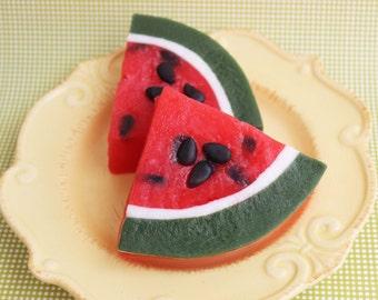 Watermelon Soap Slice - Fruit Soap, Food Soap, Watermelon Scented, Summertime, Kids Soap, Fake Food Soap, Watermelon Shaped Soap, Soap Food