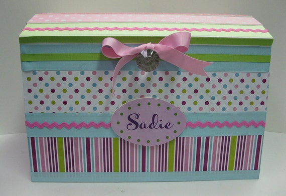 Superbe Pink Dot Treasure Storage Trunk For Girly Stuff To Coordinate
