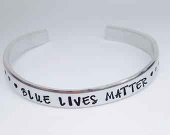 Police jewelry- blue lives matter bracelet-police family- police mom-thin blue line- police wife bracelet-back the blue