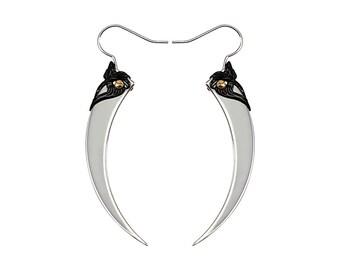 SERPENT FANGS / Silver Spike Earrings / Free Shipping