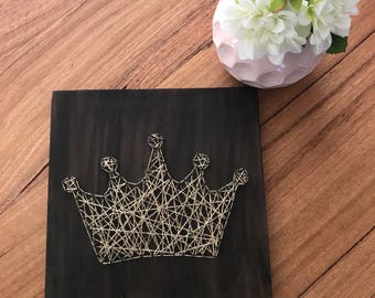 Princess crown string art room decor for Baby Nursery/ Kids Room