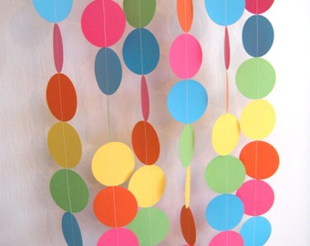Birthday Party Paper Garland - Bright Rainbow