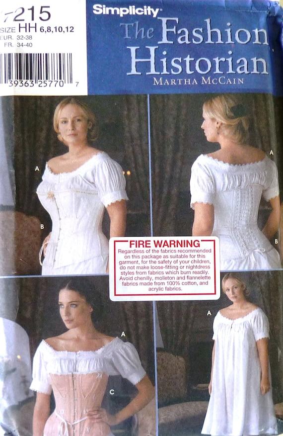 Simplicity 7215 sewing pattern, fashion historian by Martha McCain ...