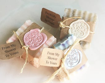 ANY COLORS! Affordable Country Rustic Elegant Party Favors From My Shower to Yours Wedding Bridal Baby Soap Party Guest Gift LOVE Thank You