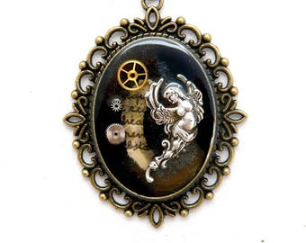 Steampunk Angel necklace