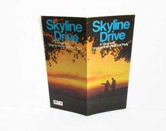 Skyline Drive Travel Brochure, Shenandoah National Park, Virginia Souvenir Advertising Brochure Big Meadows Lodge Scenic Drive, Scrapbooking