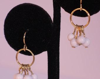 The Bibury Earrings in Black Spotted Feldspar