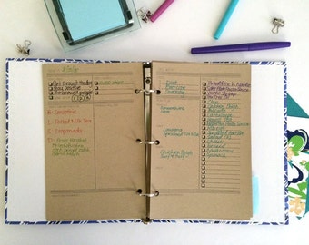 180 Day Food and Fitness Journal - Printed