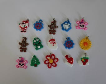 CLEARANCE - 100pcs charms rubber