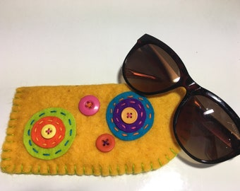 Funky Felt Eye Glass Case
