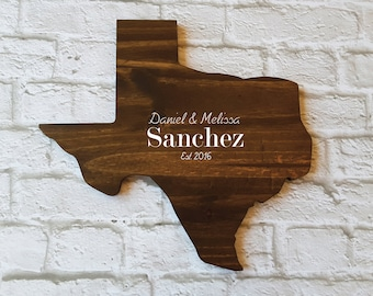 Wedding Guest Book Alternative. State Guest Book. Wood Guest Book. Custom State Sign. Personalized State Sign. Wood State Cutout, Texas