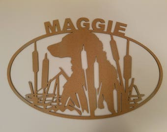 Dog sign black lab custom name
