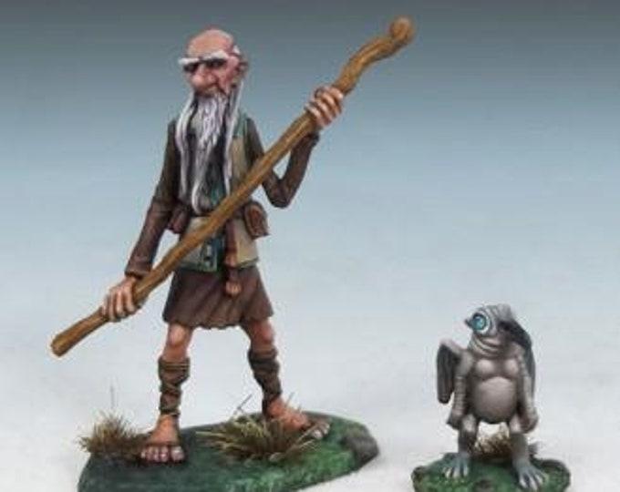 DiTerlizzi Masterworks: Arthur & Rankin, Human Wizard w/Familiar - 4603 - Dark Sword Miniatures