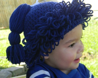 Crochet Hair Hat In Any Color Of Your Choice - Made To Order