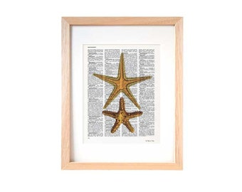 Starfish print-nautical print-starfish dictionary print-Coastal print-Starfish on book page-Sea stars print-ocean wall art-NATURAPICTA-DP119