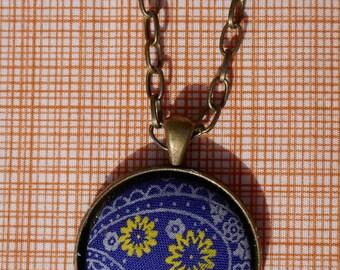 Purple Floral Pendant Necklace