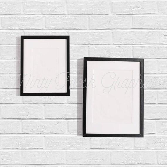 Frame Mockup - Black Picture Frames - Brick Wall - 5x7 Frame - 9x12 ...