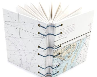 Chatham Cape Cod Journal, Monomoy Island - Nautical Chart Journal - Gift for a Sailor or Boater - 160 Page Unlined Journal