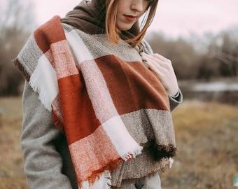 Plaid Blanket Scarf, Blanket Scarf, Tartan Plaid Scarf, Tartan Scarf, Blanket Scarf, Oversized Scarf, Oversized Blanket Scarf, Plaid Scarf
