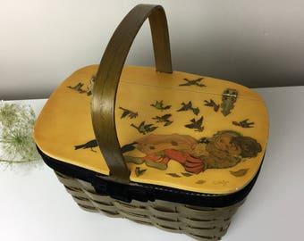 1967 Midsummer Night's Dream Basket Handbag