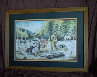 EARLY SNOW, Original Art Framed Print, by Jim Wenzel