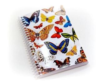 Spring Butterflies Notebook - Spiral Bound A6