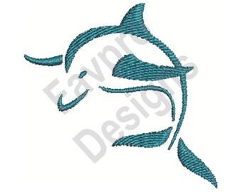 Dolphin - Machine Embroidery Design