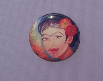 Frida--Artist Eyes--1.25in Button--ZKC Original