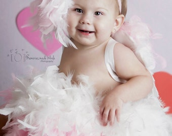 angel costume, feather, tutu, feather tutu, wings, angel wings, feather costume, costume, tutu dress, photo prop, feather wings, cupid, gift