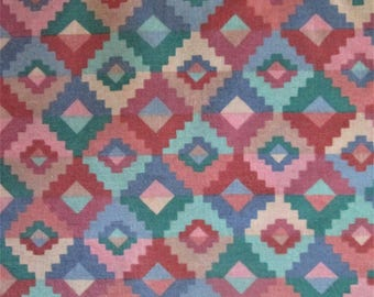 Southwest Pattern Cotton Blend Fabric 1 3/4 yd. 44 inches