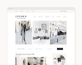 "Wordpress Theme - Wordpress Ecommerce Theme - Genesis Wordpress Blog Theme - ""Uptown"" Instant Digital Download"