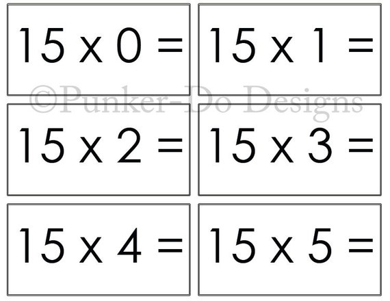 This is an image of Adaptable Multiplication Flash Cards Printable