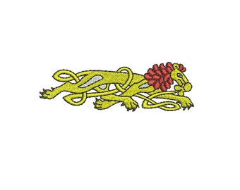 Machine Embroidery Design Instant Download - Celtic Knotwork Zoomorphic Lion 1