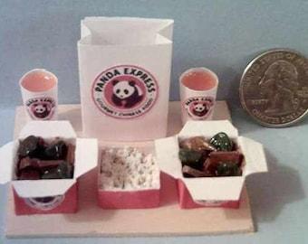 Barbie Sized Panda Express Beef & Broccoli Food Display Board