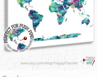 Large world map fingerprint world map 24x36 world map teal world map world map world map poster large world map personalise gumiabroncs Images
