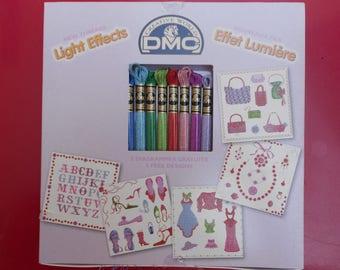 Box chart with DMC light effect thread