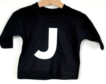 Personalised children's initial long sleeved t-shirt