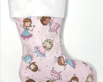 Princess Christmas Stocking, Kids Stocking, Christmas Stocking, Princess Stocking, Pink Stocking, Pink Christmas Stocking