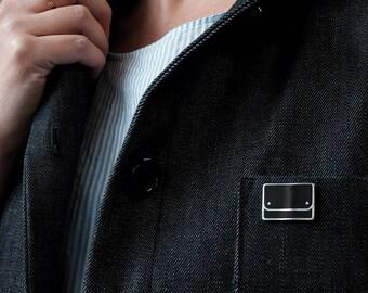 Black Pouch Enamel Pin - Silver Enamel Pin - Cute Pin - Fashion Enamel Pin - Fashionista Enamel Pin