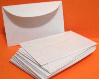 50 Mini White Envelopes