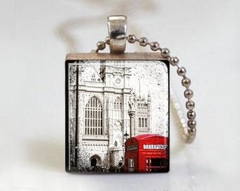 Scrabble Tile Pendant. Scrabble Tile Jewelry. Paris Pendant. Photo Pendant. Photo Jewelry. Photo Necklace. Photo Jewellery. Necklace Pendant
